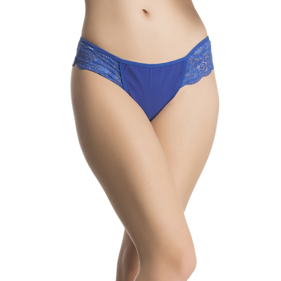 Lacy Powernet Panty In Royal Blue