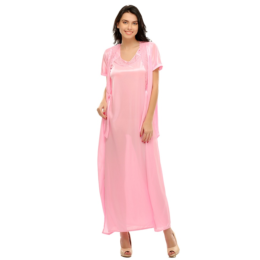 Long Robe in Baby Pink
