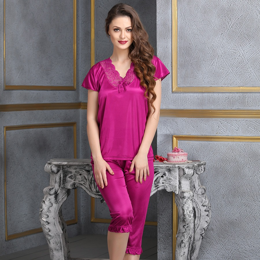Nightsuit In Hot Pink