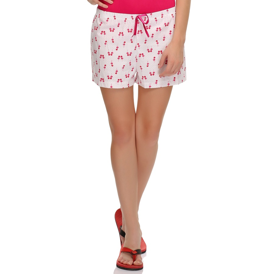 Cute Shorts In Swan Prints