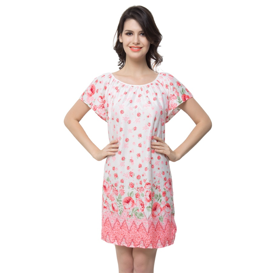 Short Nightdress With Cute Floral Prints
