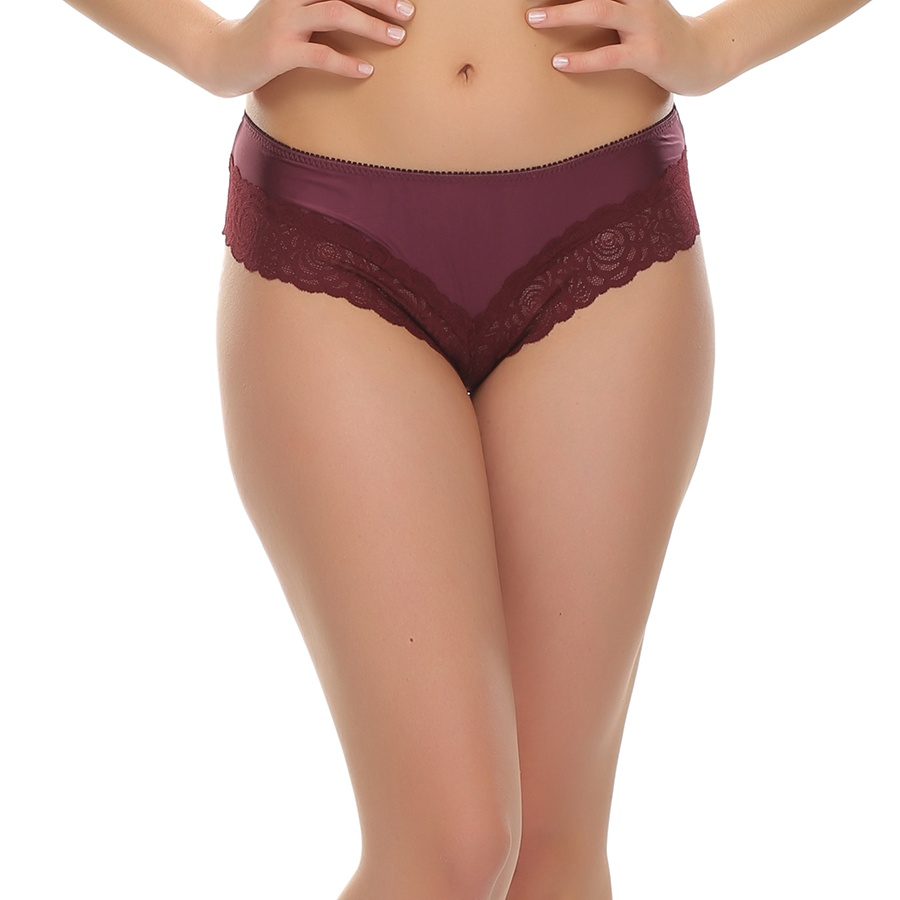 Lace Hipster In Dark Purple