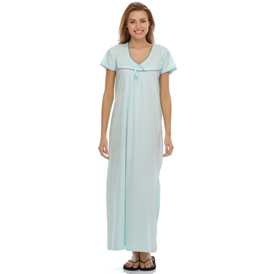 Sea Blue Soft Long Nighty