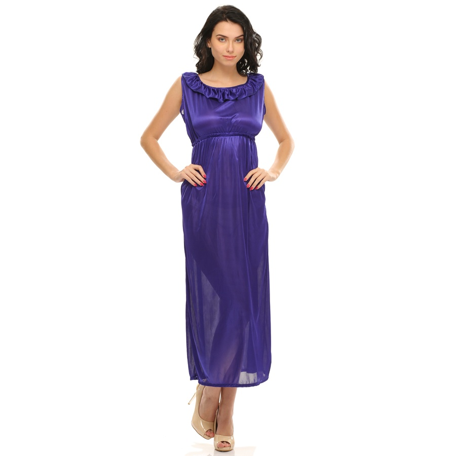 Sexy Long Nightdress In Royal Blue