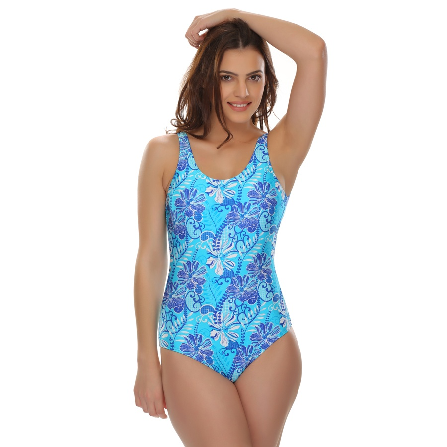V-Shape Swimsuit In Sky Blue