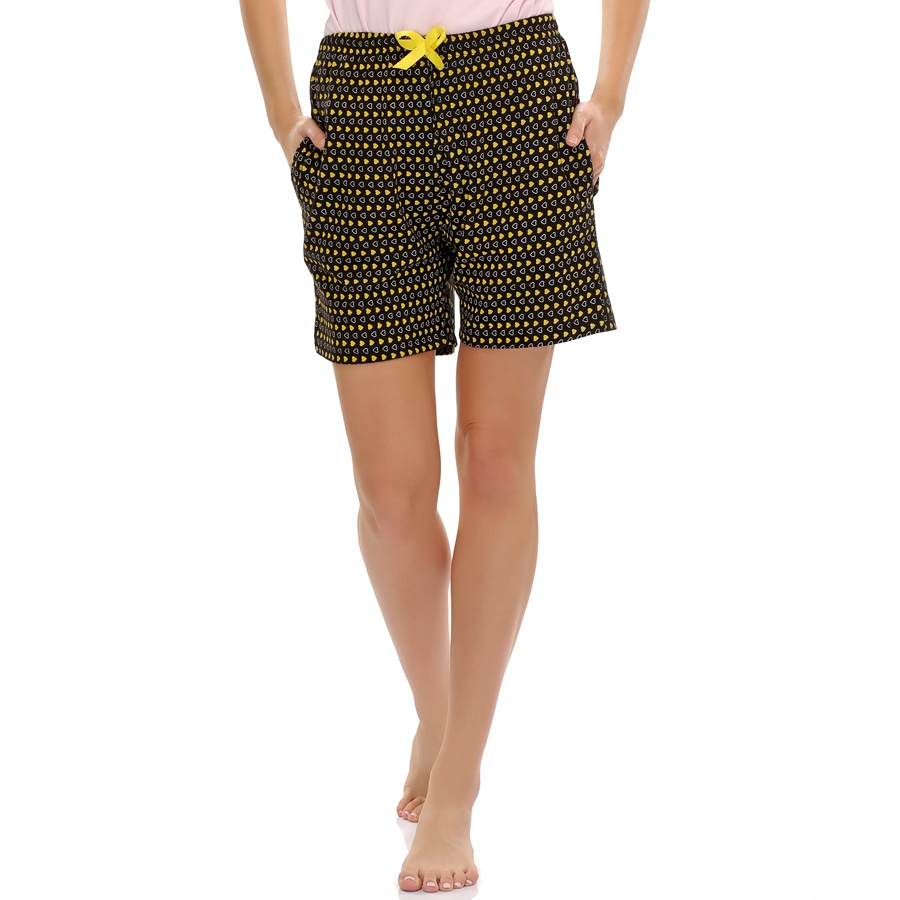 Sweetheart Printed Cotton Shorts