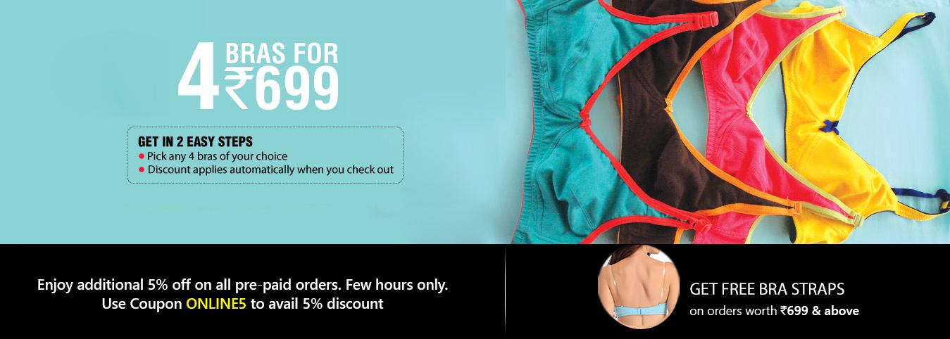 4 bras for 699
