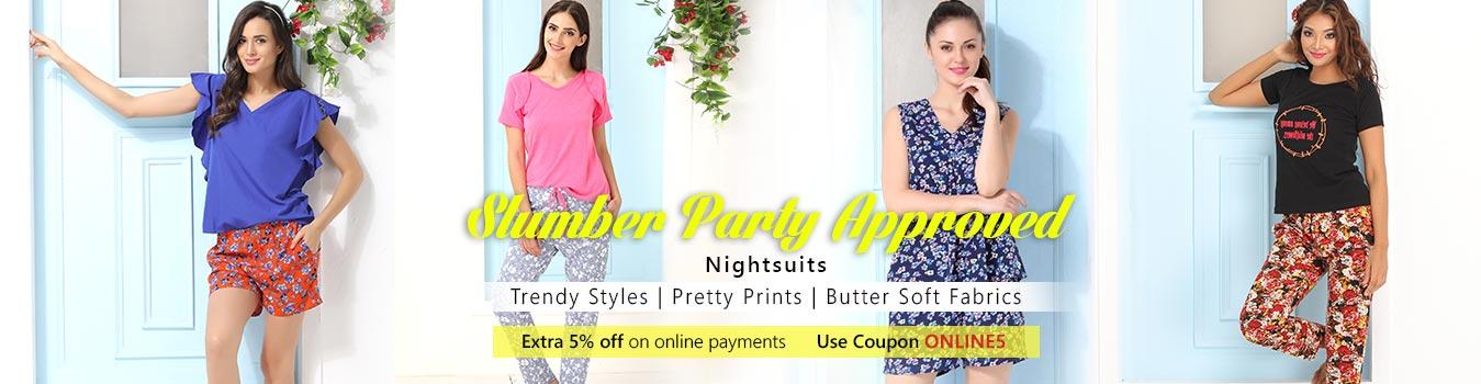 Night Suits - Buy Trendy Women Night Suits Online - Clovia