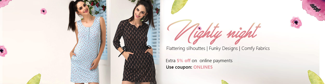 Nighty, Nightgown Online Shopping, India